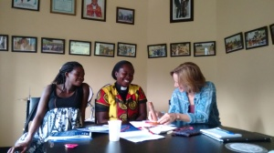Rev Elizabeth enjoys a Family Planning Counselling Role Play with other USHAPE participants
