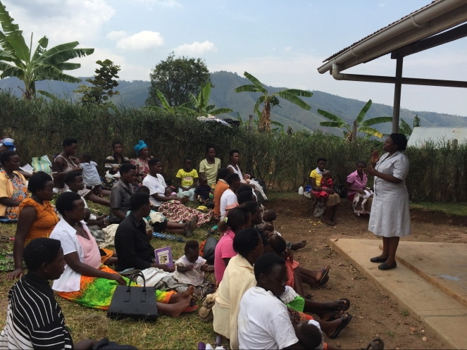 USHAPE Graduate delivers community outreach to ante and postnatal mothers